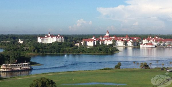 A sweeping view from our room included the luxurious properties of the Grand Floridian Resort