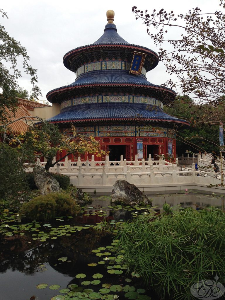 """The Temple of Heaven replica is home to """"Reflections of China,"""" a Circle-Vision 360° movie."""
