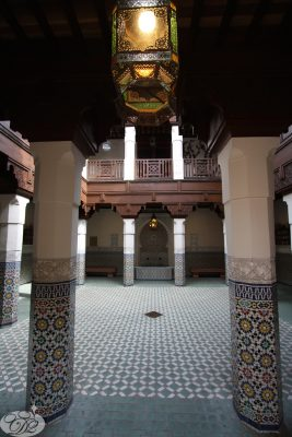 The Fes House represents a typical Moroccon house down to the most intricate detail.